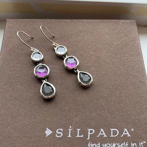 W2283 Dangle Purple Plum earrings